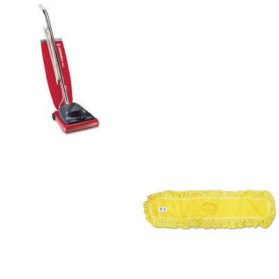 KITEUKSC684FRCPJ15700YEL - Value Kit - Rubbermaid-Trapper Looped End Dust Mops 48 x 5 (RCPJ15700YEL) and Commercial Vacuum Cleaner, 16quot; (EUKSC684F)