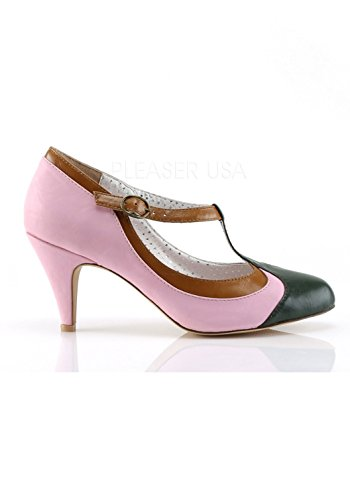 T Up Pink Couture Baby Multi Pink Pump Pin 03 Strap Baby Leather PEACH Faux d1I6Tq