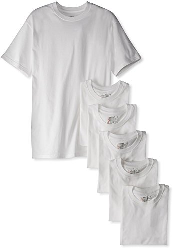 Hanes Men's Classics 6 Pack Crew Neck Tee (5X-Large, White) by Hanes