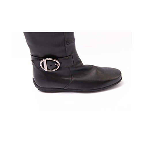 Tods Damen XXW0GK04960AQLB999 Schwarz Leder Stiefel