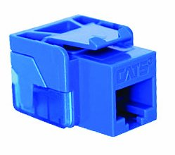 (ICC IC1078E5BL RJ-45 110 IDC Category 5e EZ Style Modular Connector 8 Position 8 Contact Clear Blue)