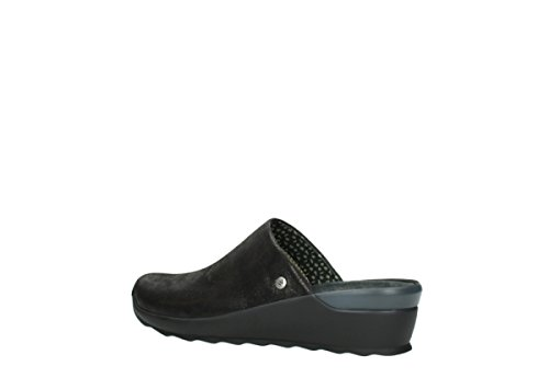 Wolky 60001 Leather Black Clogs Comfort Go Comfort Wolky Metallic FWzarF