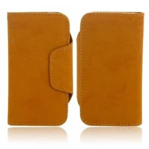 2-in-1 Detachable Microfiber PU Leather Protective Case for iPhone 5/5S Brown