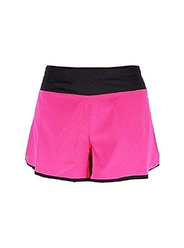 y Stretch Contrast Trim Shorts Pink L ()