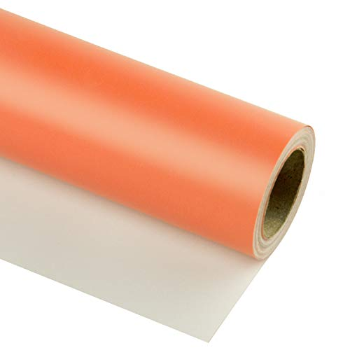 Coral Wrapping Paper (RUSPEPA Coral Wrapping Paper Solid Color for Wedding, Birthday, Shower, Congrats, and Holiday Gifts - 30 Inch x 32.8)