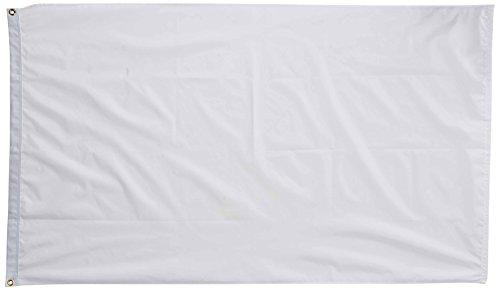 US Flag Store Solid White 3ft x5ft Nylon Flag