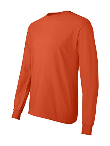 Hanes TAGLESS 6.1 Long Sleeve T-Shirt, XL-Orange ()