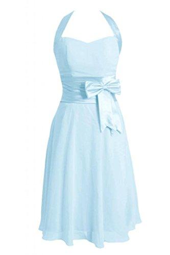 Capestro ghiaccio Damigella Daisyformals Plissettata Blu Breve Fascia Partito D'onore W bm8529 Abito Vestito 40 S6IFnq