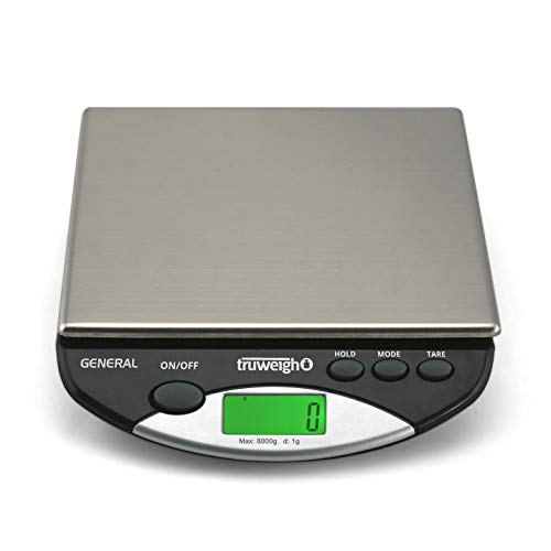 (GENERAL Compact Bench Scale 8000g x 1g Black)