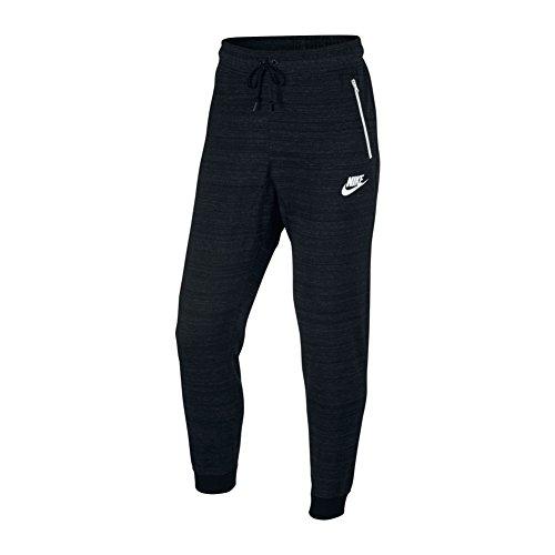 Nike Mens NSW AV15 Jogger Knit Sweatpants Black Heather/White 837012-010 Size Small