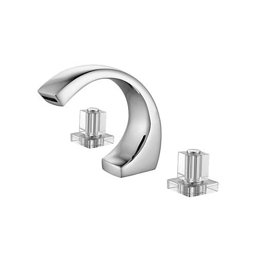 good W&P Contemporary popular Chrome two handle bathroom sink faucet three-hole