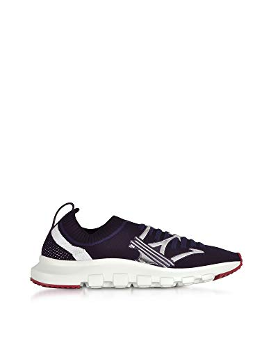 Ermenegildo Zegna Men's A4104xstenyb Blue Fabric Sneakers for sale  Delivered anywhere in USA