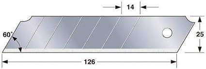 Argent Set de 20 Pi/èces Tajima LB65-20H Lames de rechange 25 mm