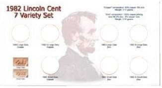 1982 Lincoln Cent Sets Specialty Sets Card and Sleeve
