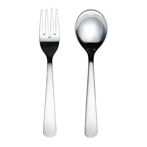 Ikea Dragon - Cubiertos para servir ensalada de acero inoxidable; 2 piezas; (22 cm): Amazon.es: Hogar