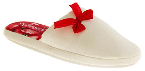Para mujer Mule Zapatillas White (Strawberry)