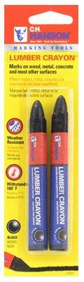 Hanson C H 10353 Lumber Crayon, Black, 2-Pk. - Quantity 12