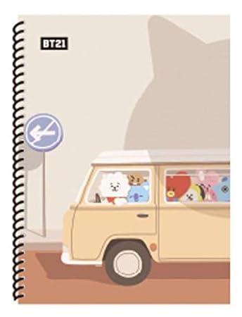 BT21 X STUDIO8 BTS - Cuaderno de espiral con espiral y ...