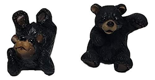 (Black Forest Décor Black Bear Cabin Cabinet Knobs (Set of 2))