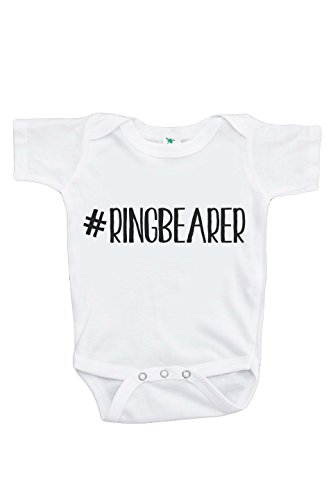 Price comparison product image Custom Party Shop Baby Boy's Hashtag Ring Bearer Wedding Onepiece 0-3 Months