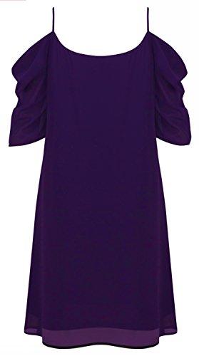 para HIMONE HIMONE mujer para Vestido Morado Vestido mujer OHUOdw