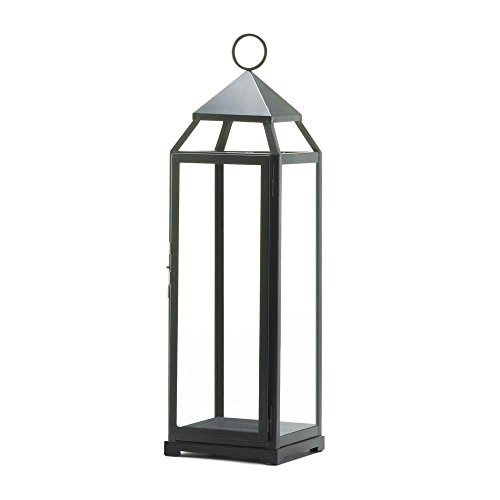 Zingz and Thingz Extra Tall Contemporary Lantern in Black (Lantern Malta)