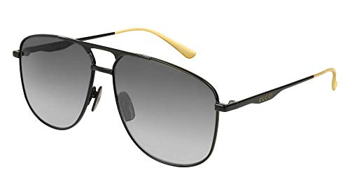 Gucci GG0336S Sunglasses 002 Black/Black / Grey Gradient Lens 60 ()