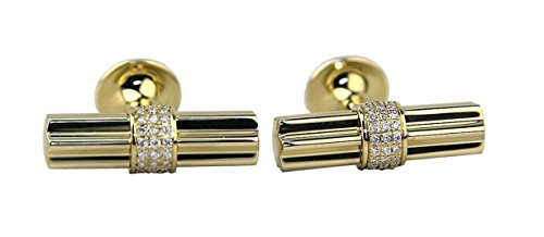MONTBLANC STAR BAR CUFFLINKS SOLID 18K GOLD DIAMONDS MOP NEW 104041 GERMANY BOX