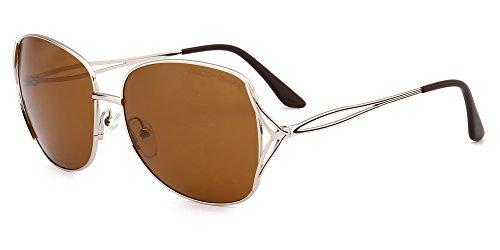 DRAGON CHARM Aviator Metal Sunglasses Women Polarized Classic Oversize - Sunglasses Dragon Aviator