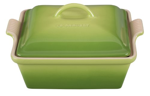 Le Creuset Heritage Stoneware 2-1/2-Quart Covered Square Casserole, Palm by Le Creuset