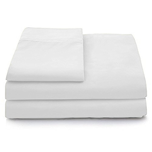 Cosy House Collection Luxury Bamboo Bed Sheet Set - Hypoallergenic Bedding Blend from Natural Bamboo Fiber - Resists Wrinkles - 4 Piece - 1 Fitted Sheet, 1 Flat, 2 Pillowcases (House Organic Cotton)