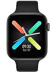 ساعة ذكية بسوار تتبع اللياقة البدنية وقياس معدل ضربات القلب وضغط الدم، مزودة بشاشة حجم 1.54 بوصة ومتوافقة مع انظمة التشغيل اندرويد وIOS، لون اسود، موديل FT50