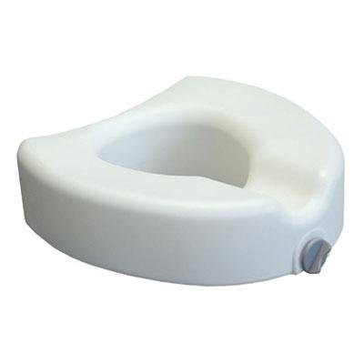 Lumex Locking Raised Toilet Seat, White