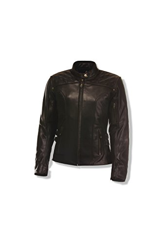 Olympia Sports Women's Janis Leather Jacket (Brown, Large)