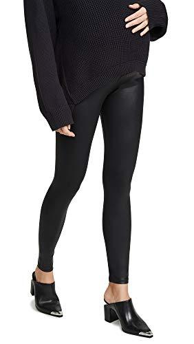 David Lerner Women's Coated Maternity Leggings, Black, Medium