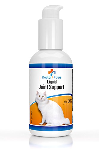 Cat Joint Health Supplement - Doctor4Paws Premium Liquid Glucosamine for Cats, Supplement for Joint Pain Relief, Health and Support, Contains Glucosamine, Chondroitin and MSM