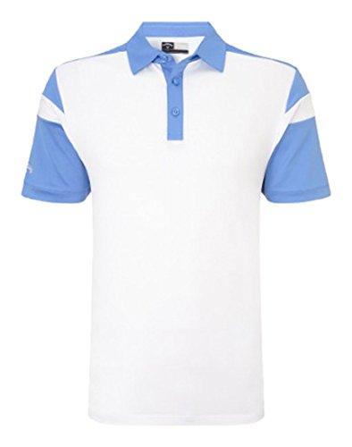 Callaway Chev Blocked Polo de Golf, Hombre, Blanco/Azul, L: Amazon ...