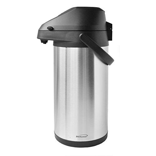 (Brentwood CTSA-3500 3.5-Liter Airpot Hot & Cold Drink Dispenser, Stainless Steel)