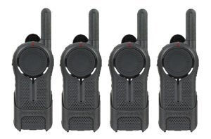 4 Pack of Motorola DLR1020 Business Two Way Radios / Walkie Talkies 900 MHz Digital ISM Band