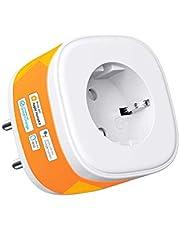 HomeKit WLAN stopcontact, Refoss Smart Plug, compatibel met Siri, Alexa, Google Assistant, spraakbesturing en tijdschema, 2,4 GHz, 16 A
