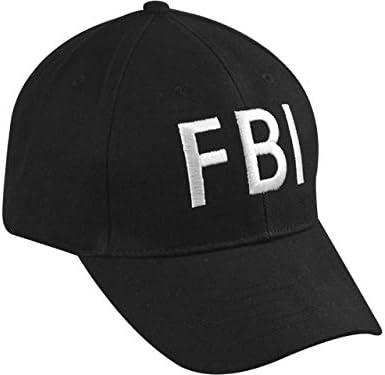 Makotex FBI Cap verstellbar f/ür Erwachsene Fasching schwarz Karneval