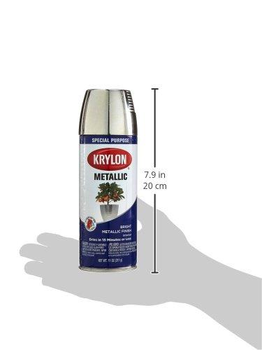 Krylon K1404 Metallic Spray Paint Chrome Aluminum Pack