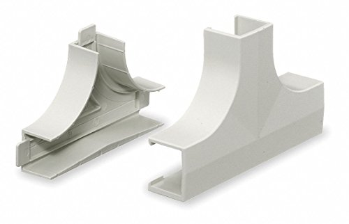 PVC Tee Base and Cover For Use With Premise-Trak Raceway, White - 1 Each (Raceway Tee Cover)