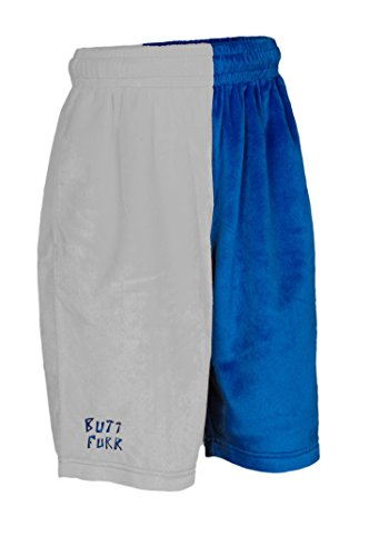Butt Furr Shorts - Blue / White - Youth Small