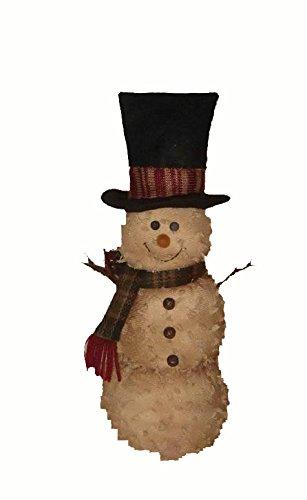 Craft Outlet Chenille Snowman with Top Hat Figurine, 16.5-Inch -