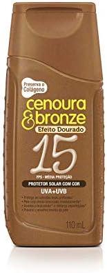 Protetor Solar Loção 110Ml Fps15 Com Cor Unit, Cenoura E Bronze