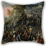 18 X 18 Inches / 45 By 45 Cm Oil Painting Joachim Beuckelaer - Christ Carrying The Cross Throw Pillow Case,each Side Is Fit For Kids Room,wife,boy Friend,kids Boys,teens,pub Funky Bedskirt