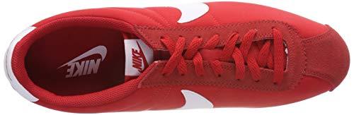 Da Nylon 604 Nike Uomo white Red university Ginnastica Rosso Cortez Scarpe Classic EInwqUT