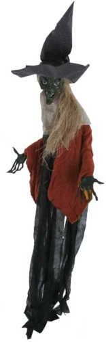 Animated Black Witch Portiere Halloween (Halloween Witch Prop For Sale)