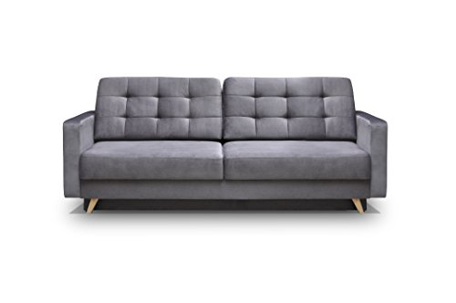 Amazon.com: MEBLE FURNITURE & RUGS Vegas Futon Sofa Bed, Queen